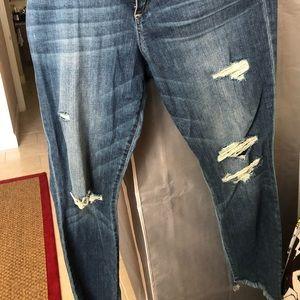 joe's distressed flare jean